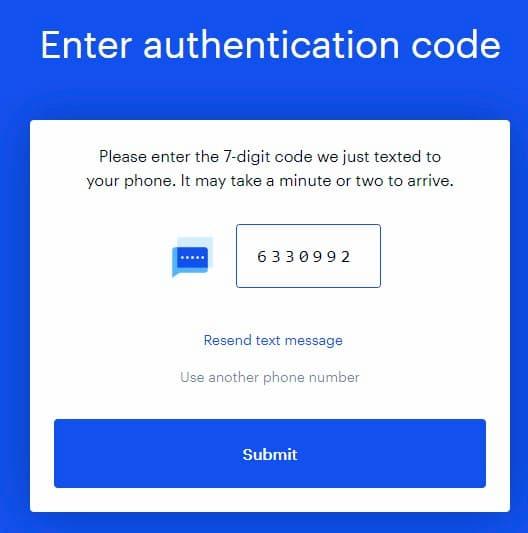 Creare un conto Coinbase - Conerma numero di cellulare