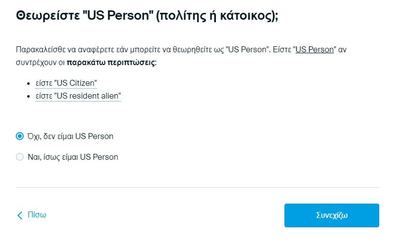 Are you a US Citizen? - Degiro