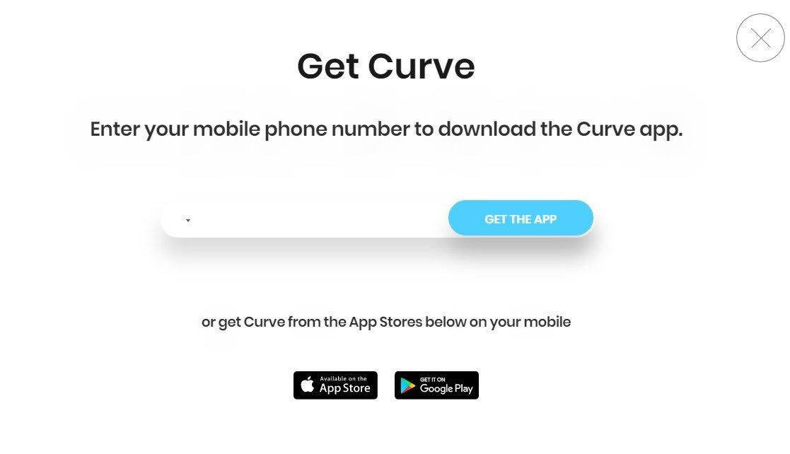 Töltsd le a Curve alkalmazást 5£ bónuszért