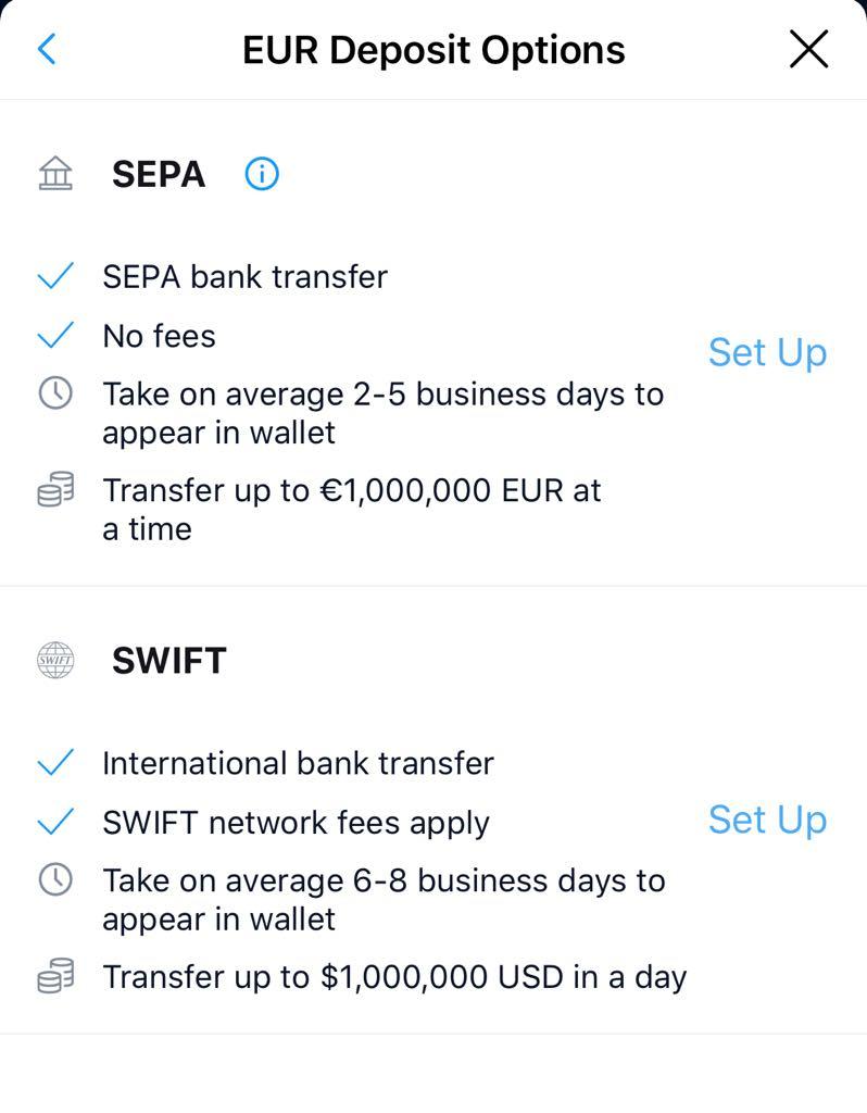 Transfert d'argent via Swift ou SEPA
