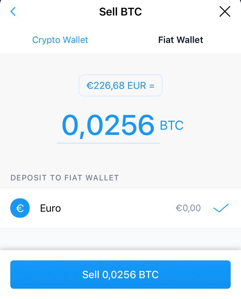Vendre des Bitcoins sur crypto.com