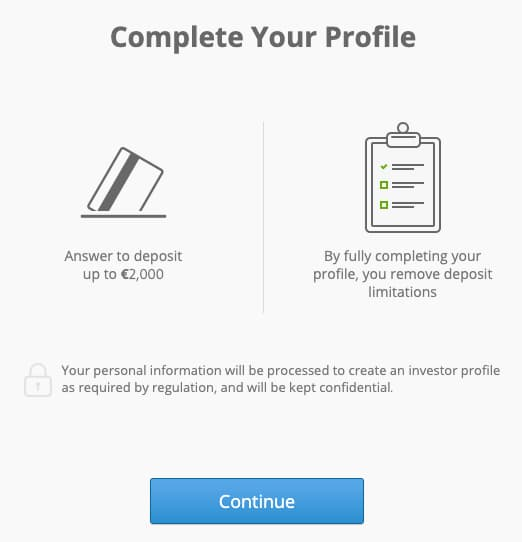 Passi Necessari per Completare il tuo Profilo su eToro
