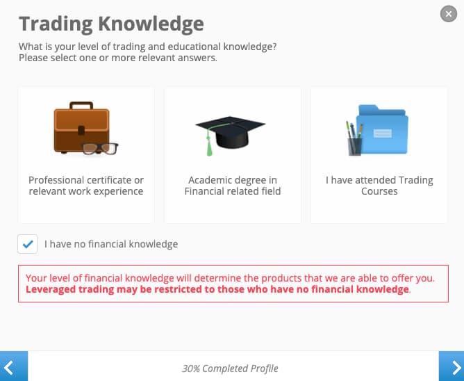 Completa le tue Conoscenze sugli Investimenti - Creazione Account eToro