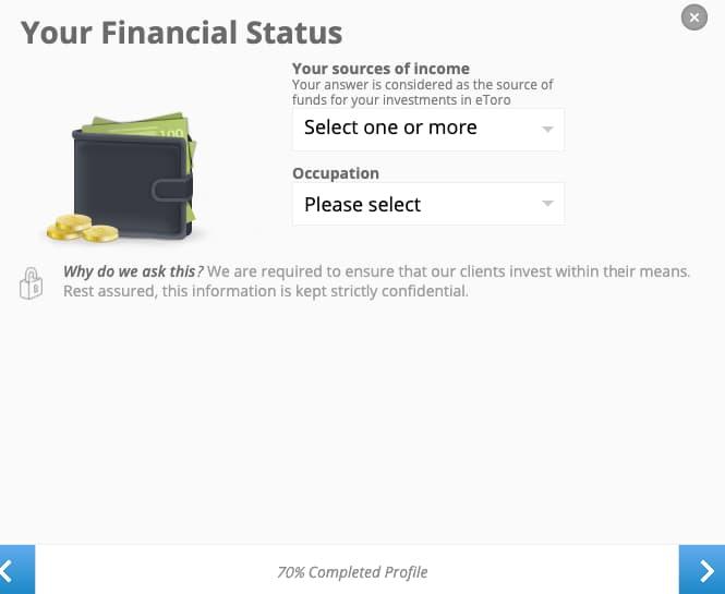 Forza Finanziaria - Creazione Account eToro