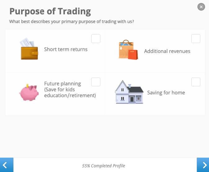 Scopo degli Investimenti - Creazione Account eToro