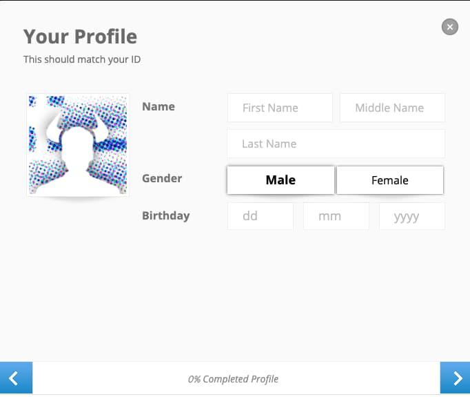 Informazioni Personali - Creazione Account eToro