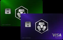 Jade Green & Royal Indigo Crypto Cartes | 10.000 CRO Stake