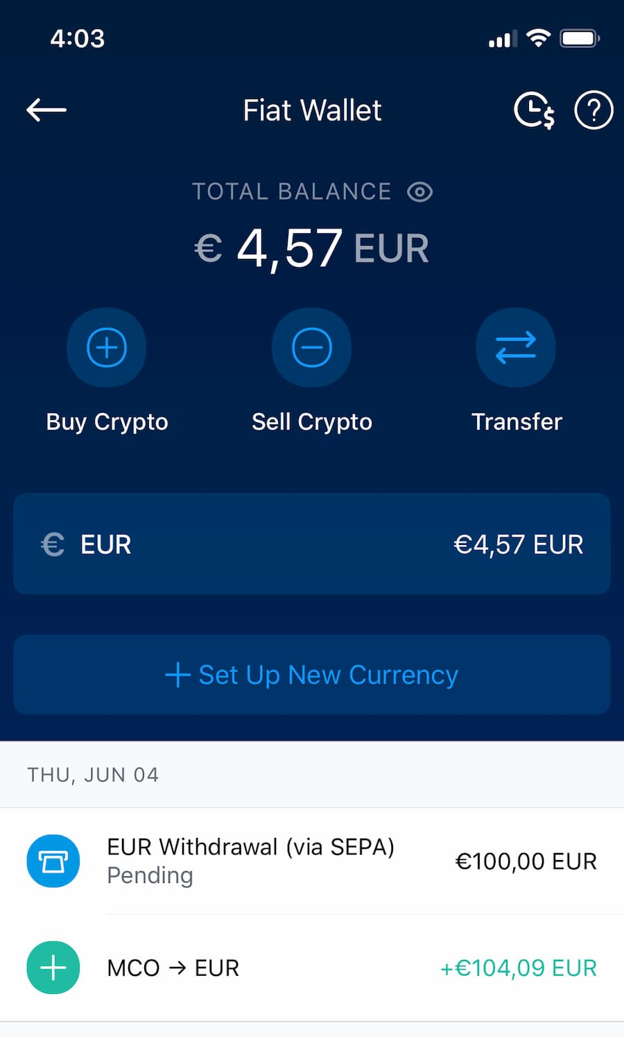 Comment retirer de l'argent de Crypto.com