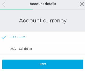 Moneta Principale del Account
