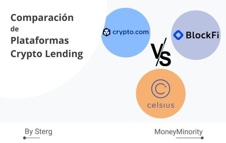 Celsius Network, BlockFi & Crypto.com _ Comparación de Plataformas Crypto Lending
